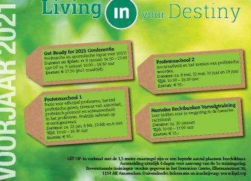 Living in your Destiny verzorgt Christelijke trainingen ✓ Ontdek jouw unieke bestemming en doe mee met een van onze trainingen!